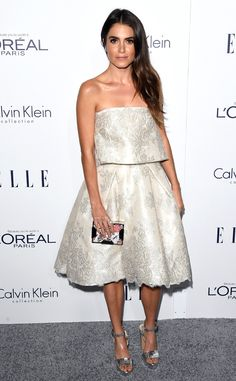 Nikki Reed from 2015 Elle Women in Hollywood Awards  The Twilight beauty sparkles in a floral print ensemble and David Yurman starburst open ring.