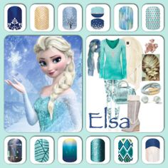 Jamberry Nails inspired by 'Frozen.'    http://mamakat06.jamberrynails.net/