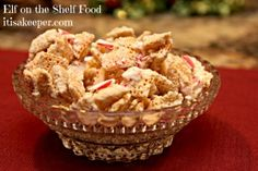 Elf on the Shelf likes Peppermint Chex Mix Christmas Snack Mix, Holiday Snacks, Holiday Parties, Christmas Goodies, Christmas Treats, Christmas Recipes, Holiday Ideas, Best Dessert Recipes, Fun Desserts