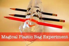 bolsa de plástico mágico experimento