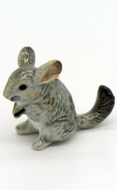Porcelain Chinchilla Pendant - Hand Painted