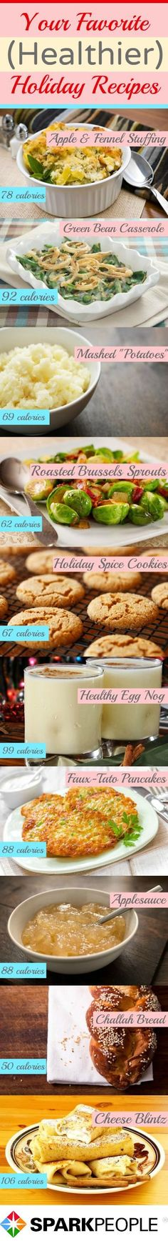 Health(ier) Holiday Favorites. Try these healthier recipes this holiday season!   via @SparkPeople
