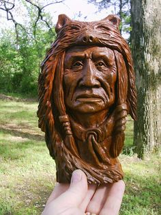 Native American Indian Wood Carvings | All the wood spirit carvings and Native American Indian carvings. Gordon Raistrick