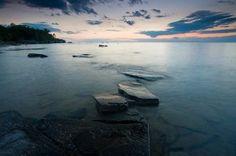 Beautiful shot of Lake Michigan.