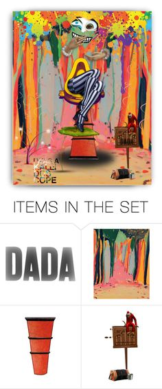 """Dada Landscape... I Was A Kaleidoscope"" by marvy1 ❤ liked on Polyvore featuring art"