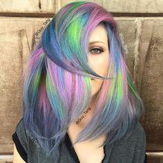 """""""LaserLights on my HairBestie @kasekathleen using Pravana vivids"""""""