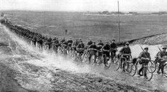 German army unit on bicycles invading Poland.