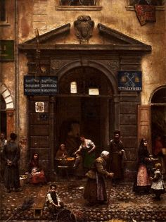 """Gate in the Old Town"" - Aleksander Gierymski (Polish)"
