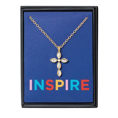 Stay inspired as you look for ways to grow every day. Our Sparkling Cross Neckla… Stay inspired as you look for ways to grow every day. Our Sparkling Cross Necklace will show you the way. Diy Necklace Projects, Avon, Elephant Necklace, Makeup To Buy, Gifts Under 10, Last Minute Gifts, Jewelry Gifts, Holiday Jewelry, Jewelry Ideas