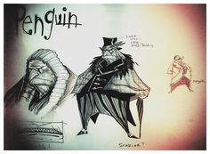 Via ジェラールド (gerardway) on Twitter - Gerard's concept art for a Batman Comic he pitched to DC
