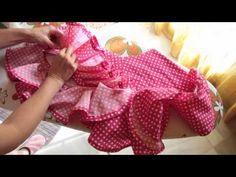 tutorial volante para traje flamenco adornado con sandunga tripa de pollo. taller costura. SIMOF - YouTube