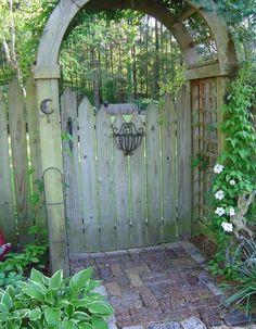la porte de jardin et portail nous accueillent avant propritaire - Portail De Jardin