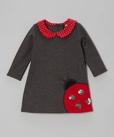 Charcoal Ladybug Bodysuit |  Samara