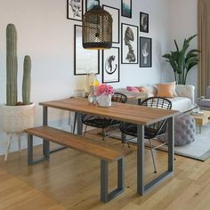 These are the best places to buy furniture online, whether you're looking for a new coffee table, sofa, bed, or to redecorate your entire home with all new furniture. Natural Wood Dining Table, Reclaimed Wood Dining Table, Salvaged Wood, Dining Table With Bench, Small Dining Tables, Simple Dining Table, Banquette Bench, Patio Dining, Round Dining