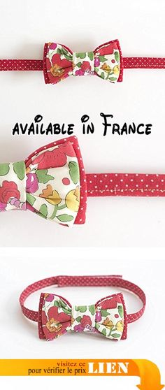 a1f577535fd89 Noeud papillon bébé enfant cérémonie coton liberty rouge fleuri. #Guild  Product #GUILD_ACCESSORIES