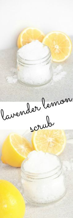 Lavender and Lemon Salt Scrub Lavender Lemon Salt Scrub - Step by step tutorial on how to make your own salt scrub Body Scrub Diy, Diy Scrub, Bath Scrub, Bath Soak, Sugar Scrub Recipe, Sugar Scrub Diy, Sugar Scrubs, Sea Salt Scrubs, Body Scrub Recipe