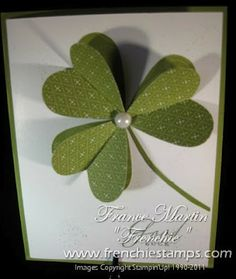 Stampin' Up! SU, Stamp & Scrap with Frenchie. Great for St. Patrick's Day birthday card.