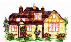 miniature needlework charts (a variety of house and cottage charts)