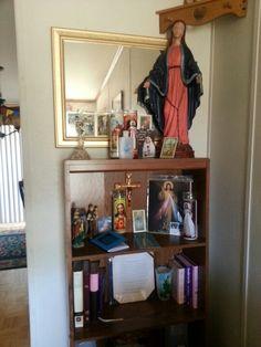 Catholic shrine at home.