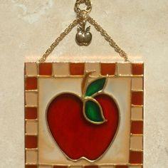 Apple Decor Utensils And Hanging Rack | Apple decorations, Apples ...