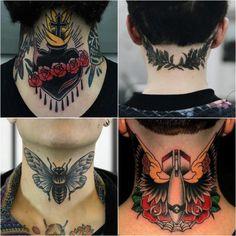 Best Neck Tattoo Ideas for Men - diy tattoo images Wolf Tattoos, Finger Tattoos, Tribal Neck Tattoos, Best Neck Tattoos, Hot Guys Tattoos, Leg Tattoos, Tatoos, Back Of Neck Tattoo Men, Tattoos For Women On Thigh