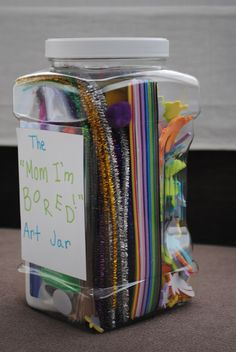 "Gift Idea for Kids: ""Mom I'm Bored!"" Art Jar 