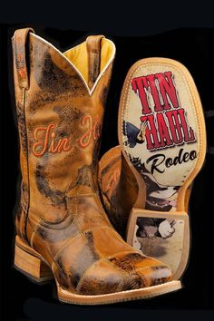 Tin Haul Boots Men's Lucky U Trick Rider Cowboy Boots FREE Shipping on http://www.eliswesternwear.com/Tin-Haul-Mens-Trick-Rider-Boot/PAKMAALKKFGEMIMF/Product