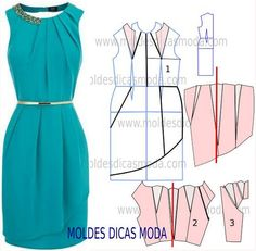 Dress Pattern Sewing Tuto Robe 17 Ideas For 2019 Fashion Sewing, Diy Fashion, Ideias Fashion, Dress Sewing Patterns, Clothing Patterns, Pattern Sewing, Diy Clothing, Sewing Clothes, Costura Fashion
