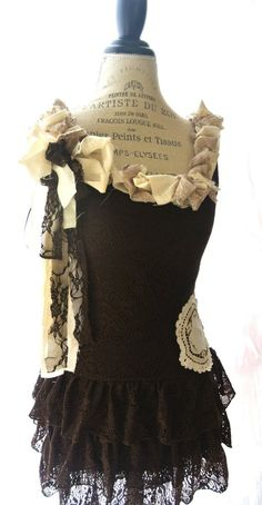Gypsy cowgirl dress ruffle dress womens by TrueRebelClothing, $62.00