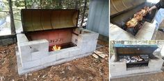 How To Make A Large Rotisserie Pit BBQ...Pretty Cool Idea For Large Gatherings...Copy & Paste Link For DIY Project Instructions (&) Click On Picture To Get Material List...http://www.goodshomedesign.com/how-to-make-a-large-rotisserie-pit-bbq/