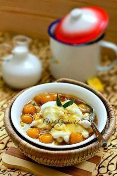 Bahan :   1. Bubur sumsum :   ~ 100 gr tepung beras   ~ 2,5 cup santan encer   ~garam secukupnya     Cara :   ~ Campur sebag...