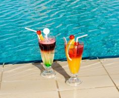 Two cocktails by Ruslanchik, via Dreamstime Canned Pineapple, Pineapple Coconut, Coconut Rum, Pineapple Juice, Summertime Drinks, Summer Drinks, Summer Pool, Summer Time, Country Time Lemonade Mix