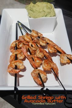 Grilled Shrimp with Avocado Butter Recipe