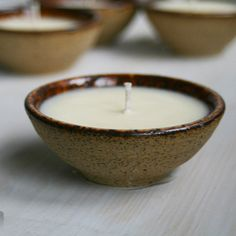 Small Vanilla Scented Soy Candle Prep Bowl Beautiful by sheilasart,   hand thrown bowl to use later!