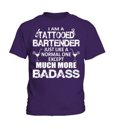 Tattooed Bartender Much More Badass Funny Bartender Pullover Hoodie (Kid T-Shirt - Purple) #firefighters #products #quotes bartender outfit, bartender recipes products, bartender recipes whipped cream, back to school, aesthetic wallpaper, y2k fashion Bartending Tips, Bartender Recipes, Firefighters, Hoodies, Sweatshirts, Whipped Cream, Badass, Cool Designs, Funny Quotes
