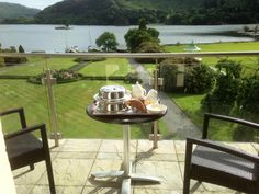 Breakfast on the balcony at the Inn on the Lake (Glenridding, Lake District)
