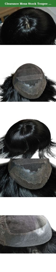 Clearance Mens Stock Toupee Hairpiece 1# Jet Black Base Size Adjustable Body Wave. Ready Made Black Toupee Base Size: 10X7.5inch, can be cuted to 9x7inch Hair Color: 1# Jet Black Hair Density: 130% Medium density ; Hair Wave: Body Wave Hair Length:6inch.