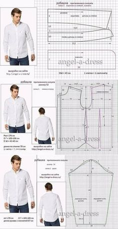 men's shirt pattern with sleeve variations free pattern diagramRead more about mens shirts♥ Deniz ♥Tap the link to check out great cat products we have for your little feline friPattern Making Fundamentals: Dart manipulation and pivot points (VIDEO)Ch Mens Sewing Patterns, Sewing Men, Sewing Clothes, Clothing Patterns, Men Clothes, Pattern Sewing, Sewing Coat, Sewing Shirts, Sewing Pants