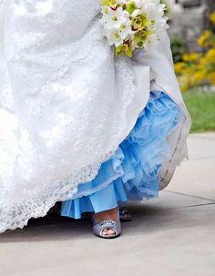 Something Blue Pink Black or  Crinoline by gownsbygaetana on Etsy, $89.00   Nifty idea!