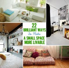 22 Brilliant Ideas For Your Tiny Apartment - this will be helpful when I'm living in NYC