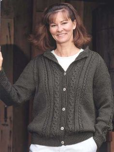 Knitting - Patterns for Wearables - Cardigan Patterns - Forest Glen Cardigan