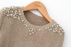 Pearl beading sweater | Pérolas no blusa de inverno