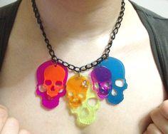 Plexiglass skulls