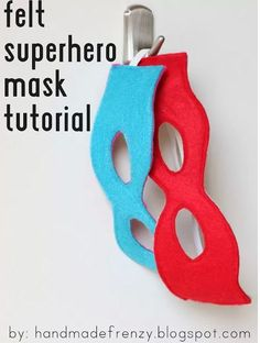 superhero party ideas-masks hung on Command(TM) Hook