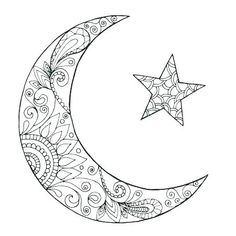 Free Coloring Pages Of Moon - Coloring Home | 236x236