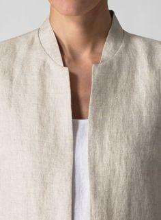 vivid linen | collar detail.