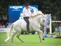 Honza Blaha and his PRE Andalusian horse Quorum