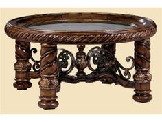 Marge Carson Living Room Segovia Round Cocktail Table SG00 - Walter E. Smithe - 11 Chicagoland locations in Illinois and Merrillville, India...