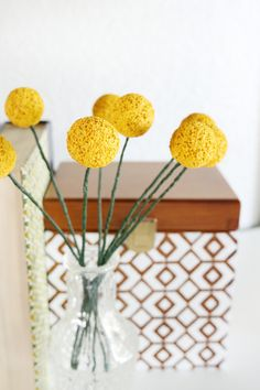 DIY Billy Ball Floral Stems #makeitfuncrafts