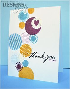 How fun is this Thank You card!  So simple, so beautiful!